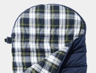 Close-up of sleeping bag