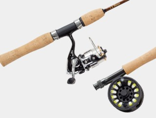 Fly fishing rod and reel.