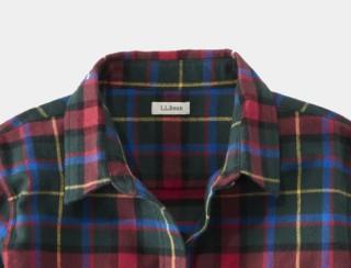 Close-up of women's flannel shirt