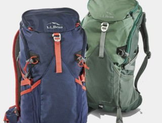 Close-up of two hiking backpacks