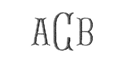 Image of Flared monogram style.