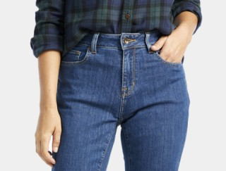 Close-up of woman wearing jeans