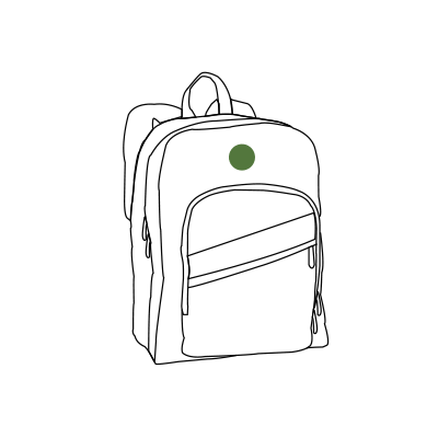 Image of monogram placement on School Backpacks.