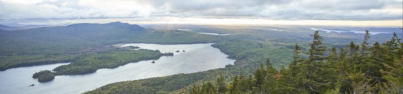 Scenic mountain waterway.