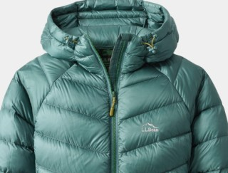 Close-up of women's hooded down Jacket
