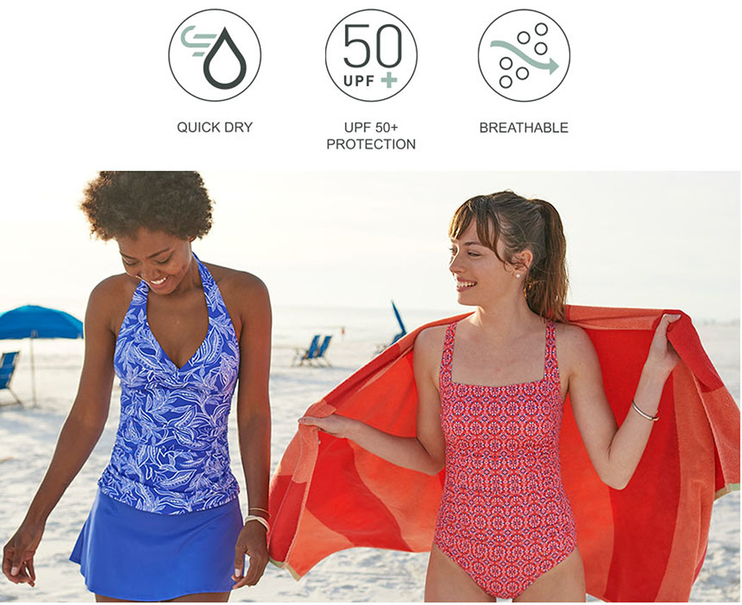 MIX-AND-MATCH With so many beautiful options, choosing the right two-piece or one-piece swimsuit has never been easier. Simply mix, match, have fun.