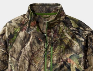 Close-up of camoflage shirt